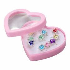 Wholesale Costume Jewellery Girl Child Adjustable-Kids Ring Set 12X Crystal Ring