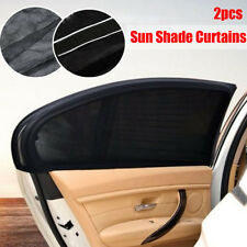 2x Car UV Protection Shade Curtains Side Window Visor Mesh Cover Shield 113cm