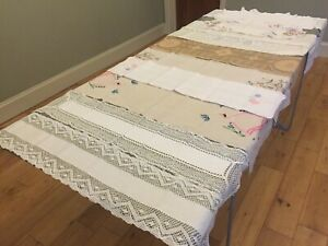 Vintage Table Runner Table / Dressing Table Centre Lace Crochet Linen YOU CHOOSE