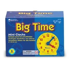 Learning Resources Gear Clock 4 Inch Set of 6 LER2202