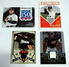 Lot (4) Miguel Cabrera Jersey Relics Patch Topps Upper Deck Marlins Tigers