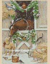 Christmas Farm Animals Counted Cross Stitch COMPLETE KIT No. 4-287
