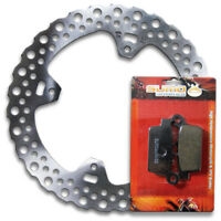 Honda Rear High Quality Brake Rotor + Pads CR125R [1998-2001] CR250R [1997-2001]