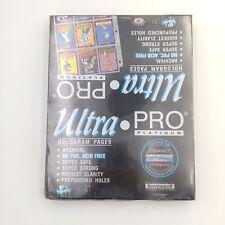 Ultra Pro Platinum 9-Pocket Hologram Pages (New Sealed 100 Count Box)