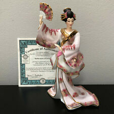 Bradford Exchange Reflections of Love Silken Whispers Geisha Girl Figurine w Coa