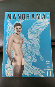 Vintage Manorama May 1963 No 11 Gay Art Male Muscle Beefcake Magazine Digest