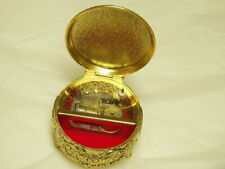 Vintage Footed Music Box Trinket Box Plays Cats Memories Made in Japan
