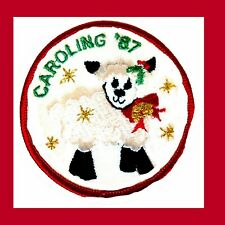 NEW Patch Christmas Caroling 1987 for Girl Scouts Cute Lamb Singing Combine Ship