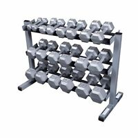 Body-Solid 5-50 Hex Dumbbell Set with Rack - GDR363, SDS550 Home Gym Weights