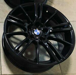 "Genuine BMW MV3 18"" Front Alloy Wheel 8J Gloss Black x1 (Refurbished) 8036933"