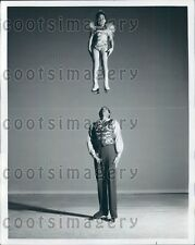 1963 Holiday on Ice Skater Dainty Debbie Over Johnny Williams Press Photo