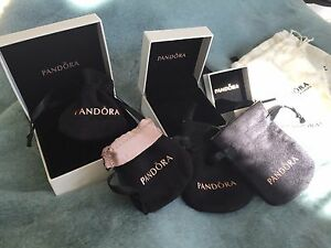 Authentic PANDORA Ring/Charm/Bead/Bracelet Box Cloth Pouch Holiday Gift Bags