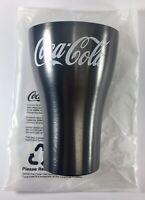 McDonalds 2020 Aluminium Coca Cola Coke Cup - Charcoal / Black *BRAND NEW*