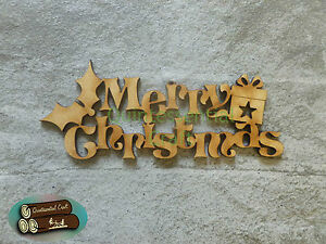 Wooden MDF Merry Christmas Sign/Box Topper