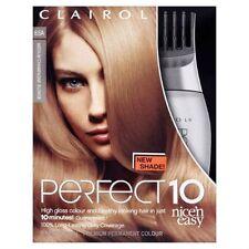 3 X Clairol Nice 'n Easy Perfecto 10, color permanente 8.5A mediano Champagne blon