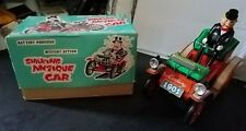 VINTAGE T.N TRADE MARK JAPAN BATTERY OPERATED SHAKING ANTIQUE CAR FREE SHIPPING