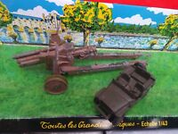 DINKY TOYS CANON 105 HOWITZER N°609 + JEEP 80B HOTCHKISS