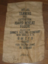 vintage SAC en TOILE GMZFO ZONE bag TANNER MILLING new york TEXAS Erwin Mfg.Co