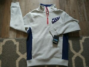 Medium Washington Capitals FANATICS NHL sweatshirt Pullover 1/4 Zip Jacket RETRO