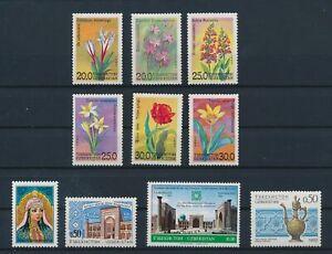 LN49879 Uzbekistan monuments flowers nature fine lot MNH