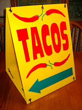 Tacos with Arrow Sandwich Board Directional Sign Kit New