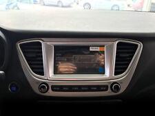 Fit For Hyundai Accent Solaris 2018 Matte Interior GPS Dashboard Console Cover