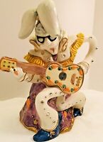RARE Fitz  & Floyd Elvis Parsley Bunny Rabbit Collectible Pitcher Sock Hopper