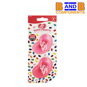 Jelly Belly Tutti Fruitti Duo Vent Two Pack 3D Car Air Freshener A1480