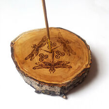 Dragonfly Wooden Incense Holder, Handmade Incense Stick Burner,  Ash Catcher