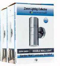 Modern Double Down Wall Garden Spot Light Zenon IP65 Outdoor GU10 2 pack Steel
