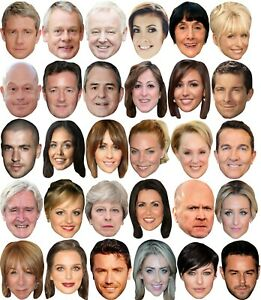 BUDGET RANGE #7 - READY TO WEAR CELEBRITY FACE MASKS - 30 TO CHOOSE - LOW PRICE!
