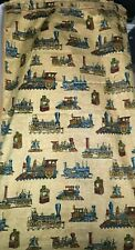 Vintage Old Fashioned Train Curtains Wild West Locomotion Fabric 76 ″ x 44 ″