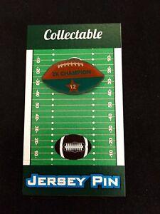Miami Dolphins Bob Griese football lapel pin-Collectible