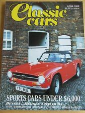 CLASSIC CARS MAGAZINE APR 1987 LAMBORGHINI HEALEY VW HISTORIC MONTE CONCOURS