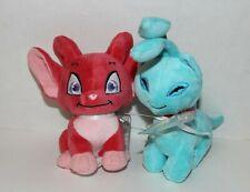 Jakks Pacific Neopets Plush Stuffed Animals Blue Faerie Aisha & Red Acara W Tags