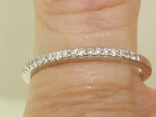 BEAUTIFUL 10K SOLID WHITE GOLD APPROX. 1/10 CTW BRILLIANT DIAMOND BAND RING!