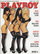 Playboy (deutsch) März 3/96 Dessous-Models John Travolta Betty Page Lou Reed Z 1