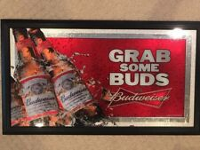 Two Budweiser Mirror Bar Signs