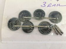 HORNBY DUBLO 6 MAIN WHEELS & AXLES 4MT 2.6.4T TANK LOCOMOTIVE 3 rail EDL 18
