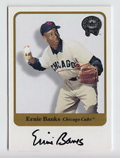 2001 Fleer Greats Of The Game Ernie Banks On Card Auto SP /250 #4