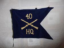 flag582 WW2 US Army Guide on 40th Regiment HQ Head Quarters Company