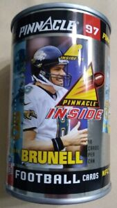 1997 Pinnacle football cards in a can Mark Brunell unopened