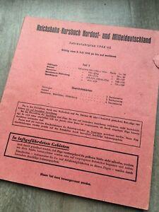 1944 original Reichsbahn Kursbuch Teil 2 Hannover Hessen Westfalen Bayern Thürin