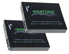 2 x Patona Akku für Canon PowerShot SX600 HS, SX610 HS, SX700 HS, SX710 HS NB-6L