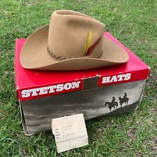 Vintage Stetson Highland Cowboy Hat 4X Beaver Chesnut Brown Size 7 In Box NICE