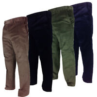 Carabou Mens Thick Cord Trousers 100% Cotton Traditional Ribbed Corduroy Pants
