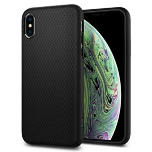 For iPhone XS XR XS Max X Case Spigen ® [Liquid Air] Slim Protective Cover