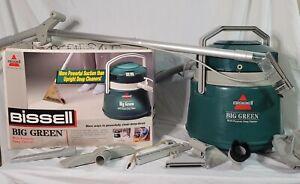 Bissell Big Green Machine Wet Dry Vacuum Carpet Shampooer Clean Works Great