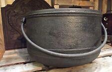 ancien chaudron fonte de cheminée anse fer forgé jardinière art populaire XXXXXL