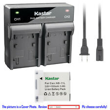 Kastar Battery AC Rapid Charger for Canon NB-11L Canon PowerShot A4000 A4000 IS